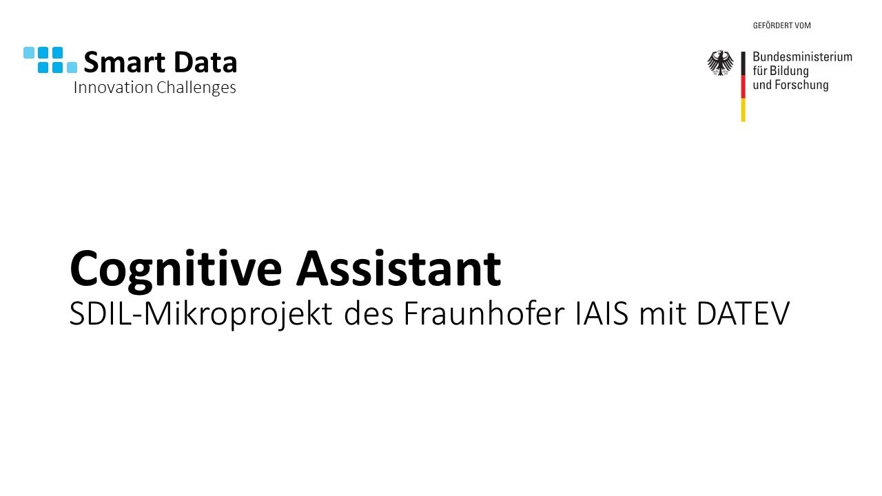 """Cognitive Assistant"" – Service Assistant for Tax Consultants, Auditors and Lawyers at DATEV"